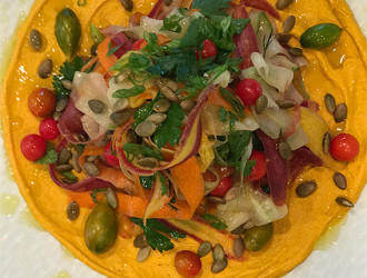 carrot_hummus_ribbon_vegetable_salad